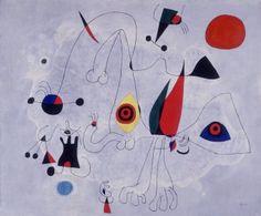 Mujer y pájaros al amanecer,1946. Fundació Joan Miró,Barcelona.