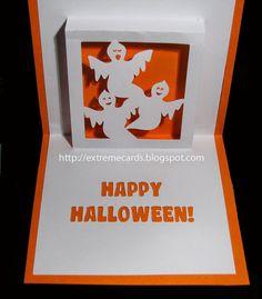Pour souhaiter un bon halloween autour de vous, n'hésitez pas à réaliser cette très belle carte en kirigami avec des fantômes!! Booooo, ils vont avoir peur en l'ouvrant, lol Un très beau modèle à retrouver ici Bonne création à tous!!