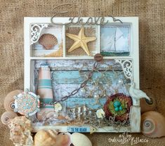 Nautical/Beach themed Wall Art {BoBunny - Boardwalk} (Such a pretty mess)