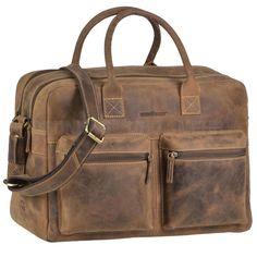 Greenburry Businesstasche VINTAGE Leder Officebag Aktentasche Briefcase braun