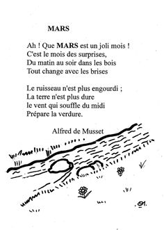 Poems and all about poetry Core French, French Class, French Lessons, French Poems, French Quotes, Poems About School, Reading Practice, French Immersion, French Language Learning