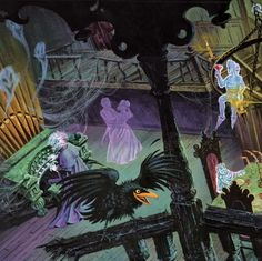 Grand Ballroom• Haunted Mansion •Disney via Long-Forgotten