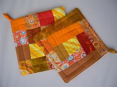 potholders - nice colors and quilting!