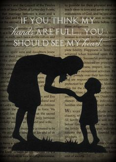 Free Printable: Mother's Day, Christmas, or birthday. The background is the Proclamation to the family (Made by Maren)