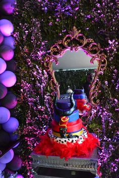 Disney Descendants birthday party cake! See more party planning ideas at CatchMyParty.com!