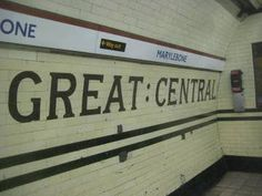 Marylebone was originally going to be called Great Central but never operated under that name. London Underground Tube, London Underground Stations, Vintage London, Old London, Abandoned Train Station, London Pictures, London Transport, Travel Oklahoma, Portugal Travel
