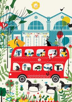 Day trippers - The joy and excitement of arriving at the Museum of Childhood. my entry for AOI / TFL London Places and Spaces brief.