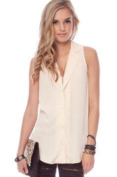 loose sleeveless blouse w dark skinnies