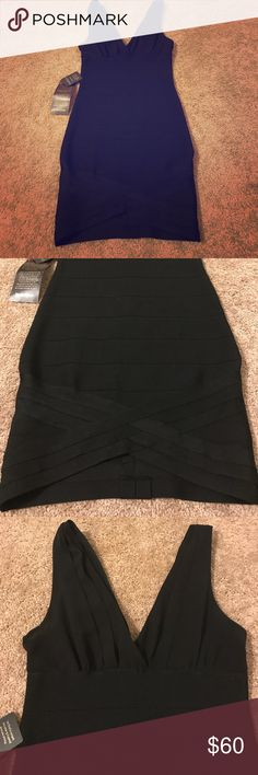 The PERFECT little black dress NWT! Bebe bodycon style dress. This dress is amazinggggg. Size xs and perfect for a date night! The pictures honestly do it no justice. This dress is beautiful! Make an offer:) bebe Dresses Mini