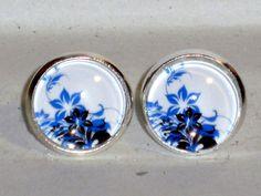 Ohrstecker Blume Ohrringe Glas Legierung ohne Stein Ohrschmuck Modeschmuck