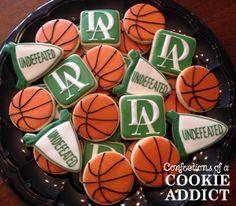Basketball Cookies, Durham Academy Cookies