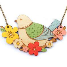 Birdie Bouquet Necklace - Cottage Industry Shop
