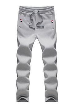 46c3967f9 Men s Light Weight Elasticity Drawstring Waist Open Bottom Joggers  Sweatpants (36  Tag 4XL
