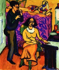 Otto and Maschka Mueller in the Studio , 1911 Ernst Ludwig Kirchner