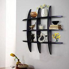 Shelving Solution Cross Display Wall Shelf (Black): Amazon.com.mx: Hogar y Cocina