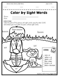 Color by Sight Words SPRING Edition