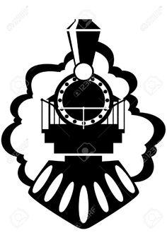 An Engraved Illustration Image Of A Vintage American Locomotive ...