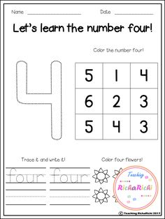 FREE number sense (1-10) Great for number fluency for pre-k and kindergarten.