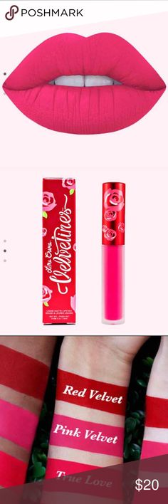 LIME CRIME VELVETINES.      PINK VELVET Pink Velvet (true pink) Brand new 100% authentic  Price is firm     No trades  Bundle to save on shipping Lime Crime  Makeup Lipstick