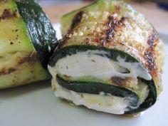 dukan diet recipe Cheese Stuffed Zucchini Rollups