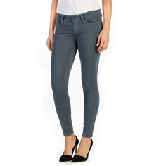 Women's Paige Transcend Verdugo Ankle Ultra Skinny Jeans ($189) ❤ liked on Polyvore featuring jeans, sea grey, skinny leg jeans, grey skinny jeans, super stretch skinny jeans, ankle length skinny jeans and gray jeans
