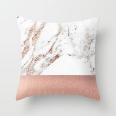 Buy Rose gold marble and foil Throw Pillow by marbleco. Worldwide shipping available at Society6.com. Just one of millions of high quality products available.