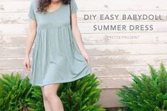 DIY Dresses to Sew for Summer - Easy Summer Babydoll Dress - Best Free Patterns For Dress Ideas - Easy and Cheap Clothes to Make for Women and Teens - Step by Step Sewing Projects - Short, Summer, Winter, Fall, Inexpensive DIY Fashion http://diyjoy.com/sewing-dresses-patterns-summer