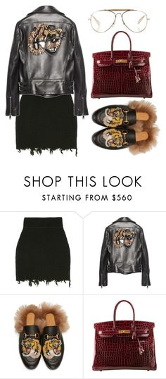 """""""Street Style"""" by selinmavi ❤ liked on Polyvore featuring Gucci, Hermès and CÉLINE"""