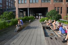 Wet your feet and bask in the sun on the High Line in New York City.