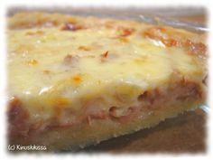 Suolaisia piirakoita en ole tainnut aiemmin itse kehitellä, mutta kerta se on ensimmäinenkin. Tällainen idea tuli ja se oli testattava. :) Pohja on sama kuin tässä toisessa tonnikalapiiraassa. Hyvää oli! Mieskin mumisi hyväksyväisesti tätä maistellessaan. Reseptin perään on jo ehditty kysellä, joten tässä, olkaa hyvät! Pohja: 125 g margariinia 3 dl vehnäjauhoja ½ dl vettä […] Lasagna, Nom Nom, Food And Drink, Dinner Recipes, Cooking Recipes, Tasty, Ethnic Recipes, Desserts, Asparagus