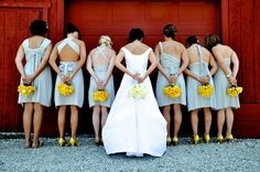 Convertible bridesmaid dresses from the back
