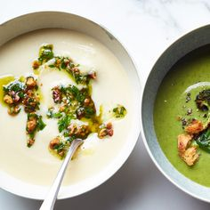 Celery Root Bisque with Walnut-Parsley Gremolata | Food & Wine
