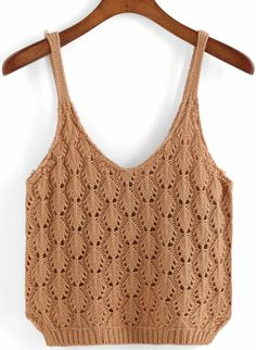 Crochet Designs, Knitting Designs, Knitting Patterns, Crochet Patterns, Débardeurs Au Crochet, Crochet Crop Top, Big Knits, Summer Knitting, Tuto Tricot