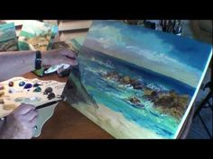 How to Paint:Beach,Seagulls - Marge Kinney Part 3 of Seascape Painting (3 Parts) - YouTube