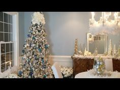 How to Create a Beautiful Winter Wonderland Christmas Tree with Lisa Robertson (Full Length) - YouTube
