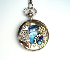 Doctor Who Pocket Watch Working Watch with by TimeMachineJewelry, $50.00