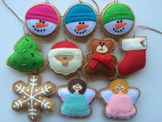 Fabulous Felt Christmas Ornaments/ Christmas door GingerSweetCrafts