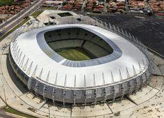 Estádio Governador Plácido de Castro (Castelão) - Fortaleza (CE) - Capacidade: 63,9 mil - Clubes: Ceará e Fortaleza