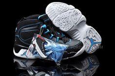 free shipping 3037f 531ef Nike Air Jordan 9 Kids Black Blue White