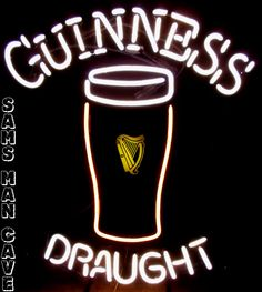 Sam's Man Cave - Guinness Draught Pint Glass Neon, $395.00 (http://www.samsmancave.com/guinness-draught-pint-glass-neon/)