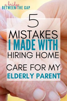 "When I first became a caregiver I thought I would never need ""outside"" help. Boy, was I wrong! I soon saw the value in hiring home care for my elderly parent but I made several mistakes along the way. care for elderly Dementia Care, Alzheimer's And Dementia, Vascular Dementia, Dementia Awareness, Burn Out, Aging Parents, Home Health Care, Health Tips, Elderly Care"