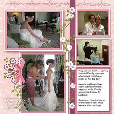 Wedding Scrapbook Page 2