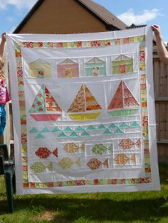 Summer Beach Quilt with Marmalade Fabric by Crafty Resolutions