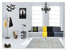 """Batman Contemporary"" by sakuduck22 ❤ liked on Polyvore featuring interior, interiors, interior design, home, home decor, interior decorating, Converse, Cyan Design, Andrew Martin and Tom Dixon"