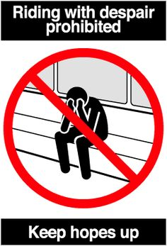 D E C E P T O L O G Y: Pranked commuters - fake signs on the subway