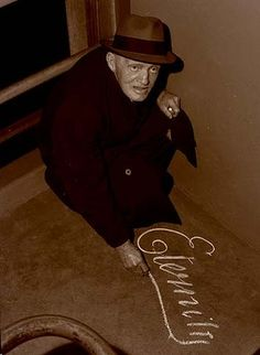 Arthur Stace, who chalked the word Eternity in copperplate on Sydneys pavements, in 1963.