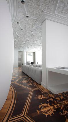 Floor + Ceiling >> Marcel Wanders In readable parquet floors and ceiling moulding Top Interior Designers, Best Interior Design, Home Interior, Interior Design Inspiration, Interior Architecture, Interior And Exterior, Floor Design, Ceiling Design, House Design