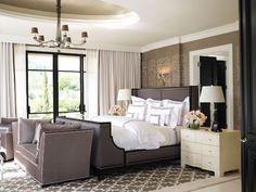 Modern Hollywood Regency bedroom design by Jamie Herzlinger