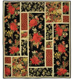 """Quilt Pattern - Leesa Chandler Designs - Southern Jewels - From Australian designer, Leesa Chandler, this pattern is perfect for showcasing large scale prints and fabric panels with easy step by step instructions. Finished Size: 50"""" x 50"""""""