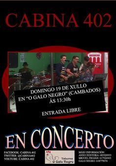 CORES DE CAMBADOS: CONCERTO DE CABINA 402